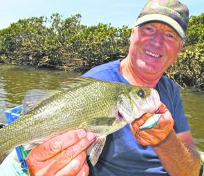 Dick Brown using a classic EP lure, the Rapala Rattler.