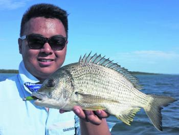 Good-sized bream like this are around in solid numbers at the moment. Danh Duong caught this fish on a paddle-tail soft plastic with some added scent for good measure!
