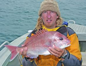 The deep reefs of Cape Otway are good places to search for late season snapper. This was just one of many landed on a recent trip. The key to success was fishing the slack water period of the tide.