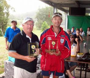 The champion team, Bass Boys, Mal Dilkes, left, and Andy Parkinson. Andy also won champion angler.
