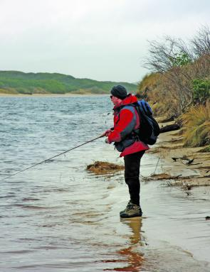 Estuary mouths are worth a look in October for searun trout action.