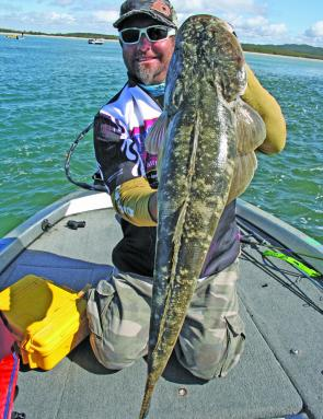 Remember flathead have a legal limit of 75cm, so they must be released over this length.
