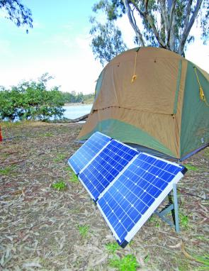 Camps that have shade trees are a challenge. Always try to set up the solar panels in a position where they receive the most sun and the least shade.