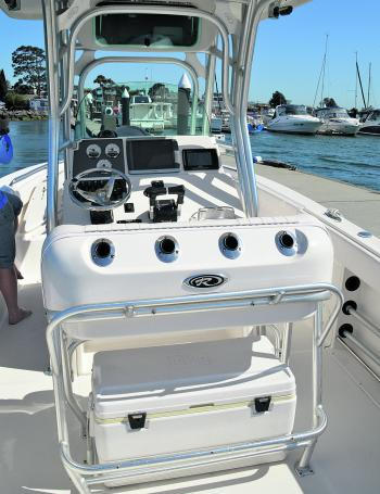 Can you picture yourself here? The transition from a smaller boat to the 260 isn't as hard as it seems. A drive-on trailer and common-sense console layout make driving the R260 a piece of cake. It's like the boat you have now – just bigger!