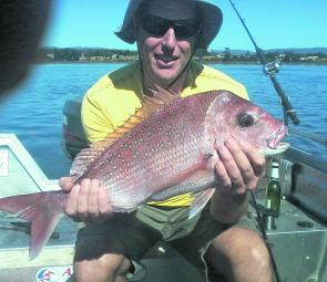 Quade Geale of George Town with his first Tamar River snapper.