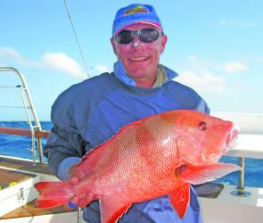 Lozza did an Irish jig around the boat at North West when his red emperor came in over 75cm.