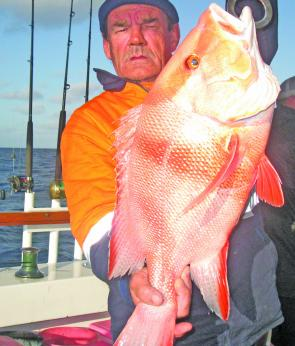 Not that is was a competition, but Al showed us that North West reds come in XXL sizes as well.