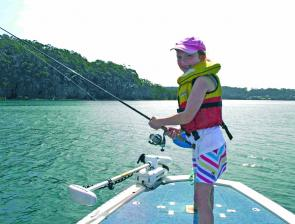 The author's daughter, Jessica enjoys her fishing and certainly knows what she's doing.