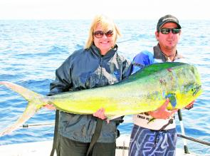Big mahi mahi like this one, caught aboard an RU4REEL charter, will be on the cards this month.