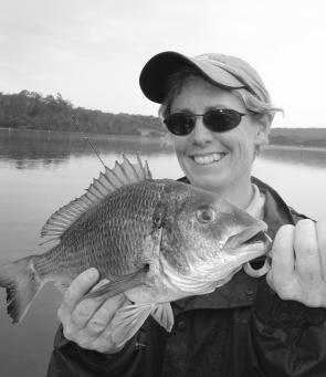 since the big wet, bream like this one which Bronwyn Pratt caught are now moving throughout the Bega River system.