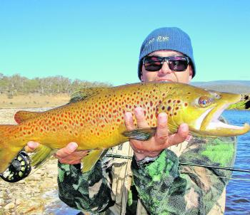 Get the weight right with your split shot at Eucumbene River and you can hook fish like this all day long.