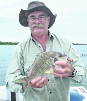 Allan Rooks with a Middle Wall bream. These fish will be readily available over the next month.