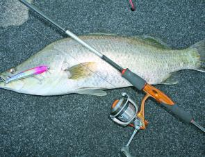 Perfecting the art of casting can improve your catch rate greatly and bring fish like this barra on board.