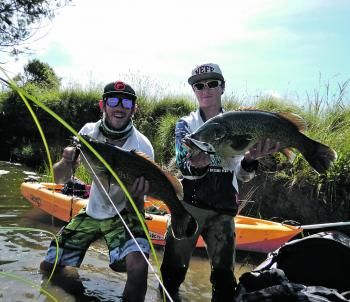 Double hook-ups on swimbaits – does it get more exciting?