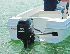 The Mercury 50 proved ideal power for the Coastal 480.