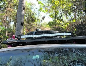 The Korr light bar, with it's 8100 lumens output, is a virtual necessity for extended night travel.