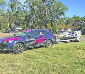 The Outback 3.6R towed the Savage boat package with ease.