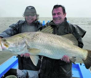 Big barra are a feature of May fishing with freshwater run-offs the place to target.
