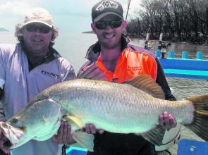 Pete Russo with an impressive 118cm barra.