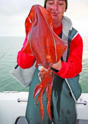 Jay Furniss got amongst the egi action landing plenty of Peninsula calamari to 2kg.