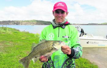 Luke Draper with a healthy Glenbawn bass.