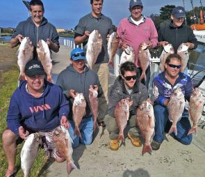 Another happy bunch of anglers returning from their morning charter. Photo courtesy Matt Cini
