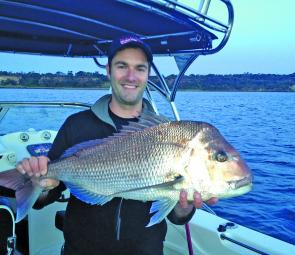 Chris Mew with another Mt Eliza red taken on a soft plastic