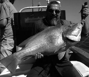 Serge Ellfman with a great large-mouth nannygai caught on a trip with One More Cast Fishing Adventures off Townsville.