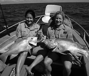 This top set of reds was one of many caught by Nelly Struss and Bub Walker in the trip of a lifetime off Townsville.