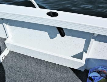 Side pocket storage is simple – just like the build. Big, beamy and simple means trouble-free boating.