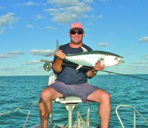 This longtail tuna was taken on a 10 weight Strudwick in June. Weather doesn't get much better in the afternoon.