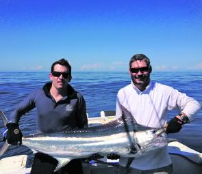 BJ Tompkins and Tim Bidencope on a recent trip to Fraser Island on Ruff N Tuff.