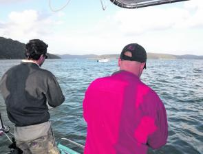 Double hook ups and light tackle are what fishing for salmon is all about.