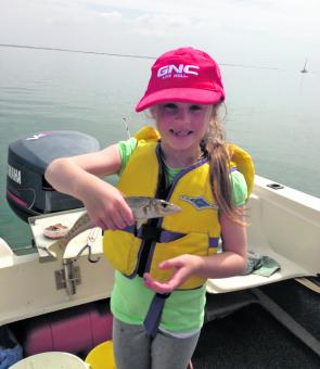 Lyra, 8yo, had a ball testing out her new rod.