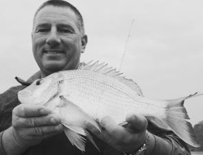 Steve Brooks with a typical Pittwater bream.