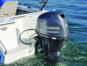 Completing the perfect match for the 485 Haven is Yamaha's new F70 70hp four-stroke.