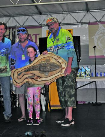 Alexi Delinicolis was all smiles after winning the Junior Angler division.