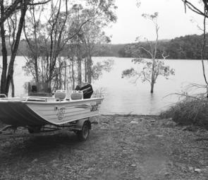 Boat Launching at Koombooloomba is relatively easy, even with a 2WD vehicle.