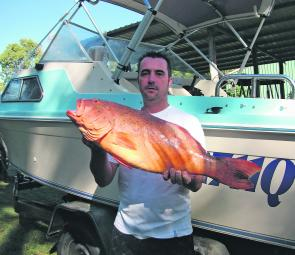 The author with his first ever coral trout. It was a ripper at 6.5kg and 86cm.
