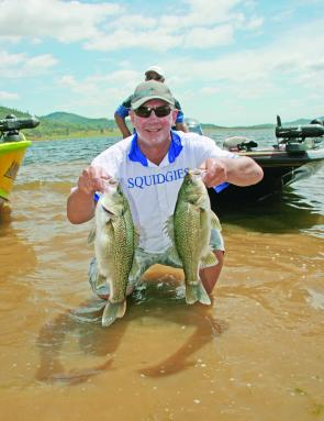 Champion BASS Pro Boater, Kerry Symes caught his winning limit of Jackall Masks and spinnerbaits.