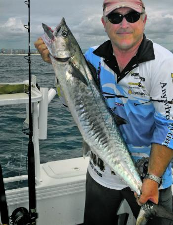 Mark Frendin with a medium sized Spanish mackerel.