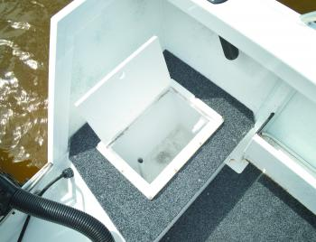 A plumbed bait tank comes standard in the rear deck.