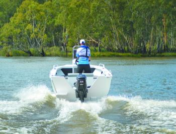 The Suzuki 50hp four-stroke on the test boat was a great match for it. It provided a great combination of power and economy, getting the 449 onto the plane in less than five seconds.