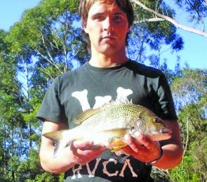 Paul Woods has been fishing some of the upper creeks around Ulladulla-Mollymook. He scored this bream on an Ecogear hardbody.