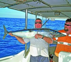 Doug Carr caught this huge wahoo at The Pinnacles.