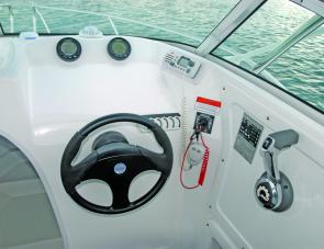 With the Evinurude's I-Command dials prominent the skipper will find it easy at the helm of the Explorer 530.