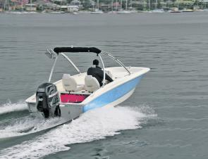 The Mercury 90hp EFI four-stroke has plenty of oomph for this unsinkable foam-injected hull.