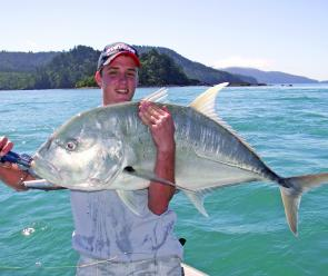 Another GT captured on the largest version of the Nomad Ulua stickbait.