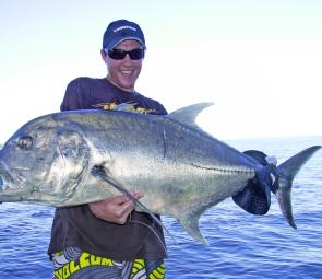 GT are a fun saltwater target and one of the strongest fish in the sea!