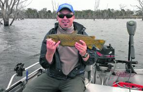 Roger Dark had a great trip to Toolondo catching a number of great trout such as this ripper.